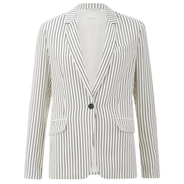 rag & bone Women's Belmar Blazer - Black/White Stripe