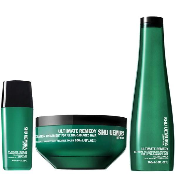Shu Uemura Art of Hair Ultimate Remedy Shampoo (300ml), Masque (200ml) and Serum (30ml)