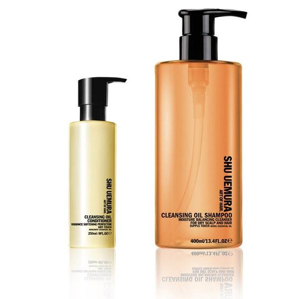 Shu Uemura Art of Hair Cleansing Oil duo nettoyant - shampooing (400ml) et après-shampooing (250ml)