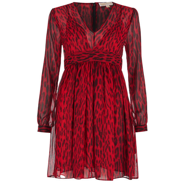 MICHAEL MICHAEL KORS Women's High Woods Dress - Red Blaze