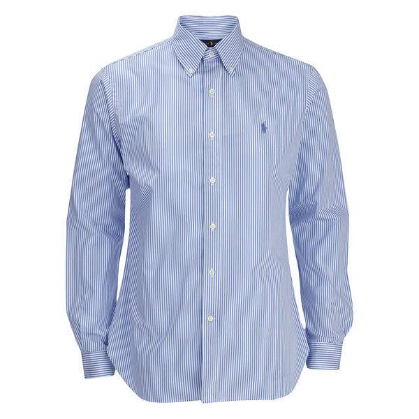 Polo Ralph Lauren Men's Small Stripe Dress Shirt - Sky