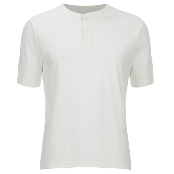 Universal Works Men's Single Jersey Short Sleeve Eton T-Shirt - Ecru