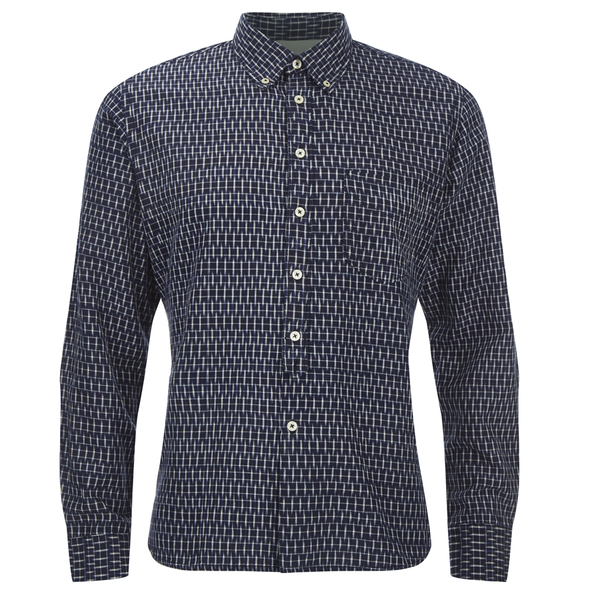 Universal Works Men's Ikat Everyday Shirt - Navy