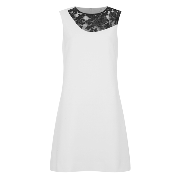 Diane von Furstenberg Women's Kaleb Combo Emb Dress - White/Black