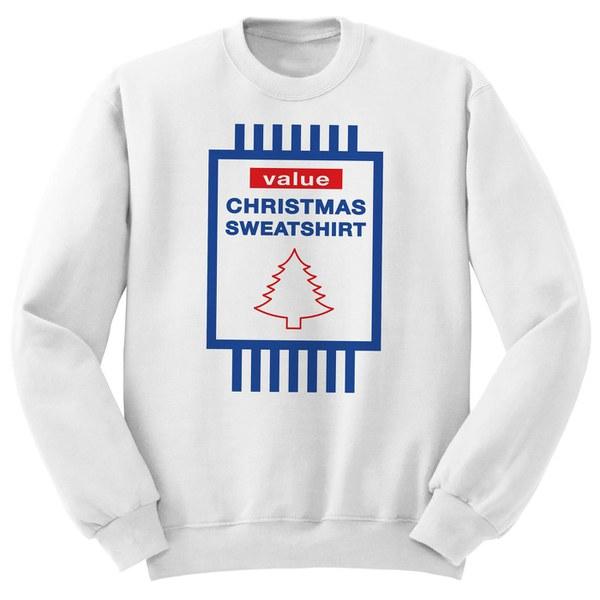 Value Christmas Sweatshirt - White