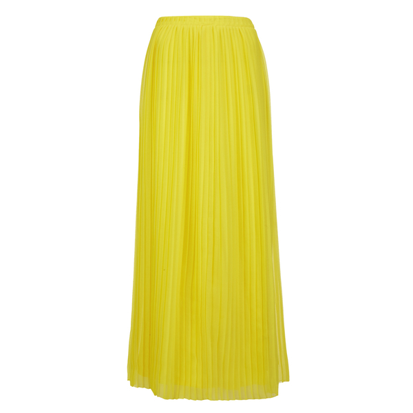 BOSS Orange Women's Beflowy Pleated Maxi Skirt - Yellow