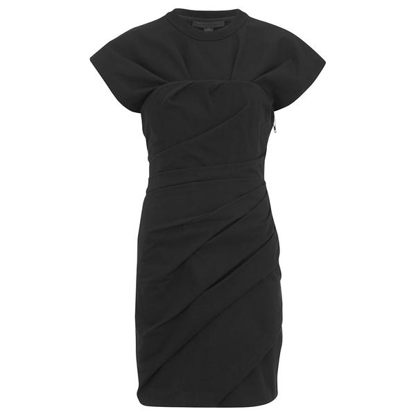 Alexander Wang Women's Draped Bustier T-Shirt Dress - Onyx