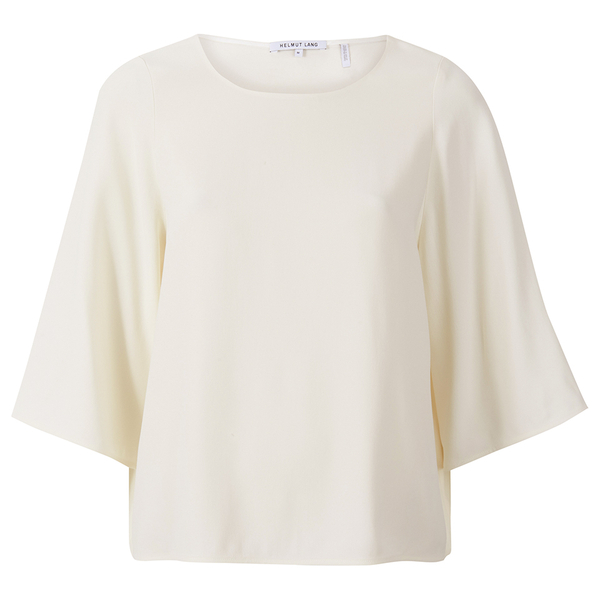 Helmut Lang Women's Scooped Neck Wide Sleeve Top - White