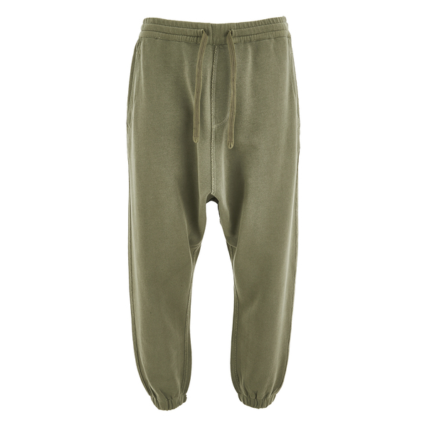 Maharishi Men's Raw Dropped Sweatpants - Maha Olive