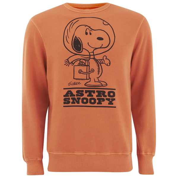 TSPTR Men's Astro Snoopy Crew Neck Sweatshirt - Orange