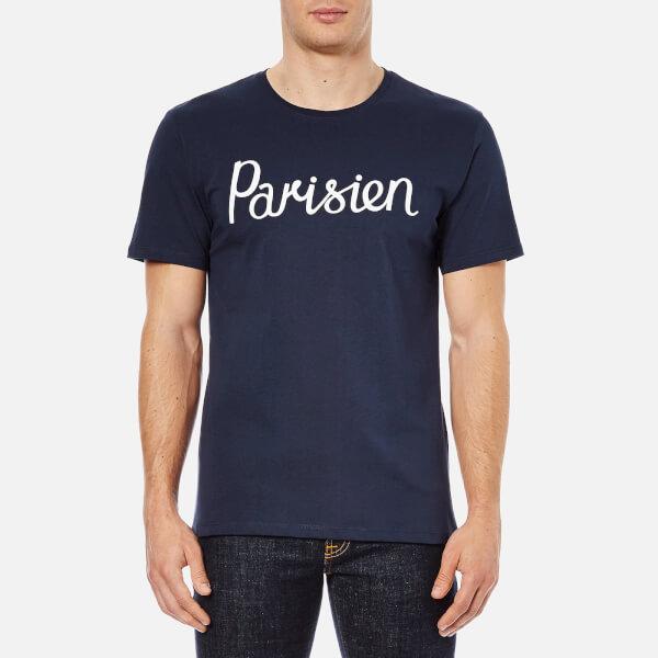 Maison Kitsuné Men's Parisien T-Shirt - Navy