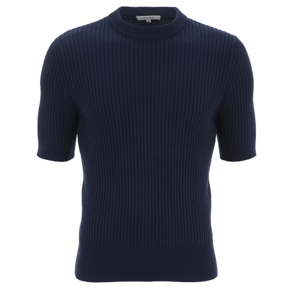 Carven Men's Short Sleeve Knit - Marine