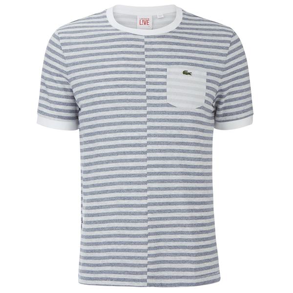 Lacoste Live Men's Pocket T-Shirt - Blue/White