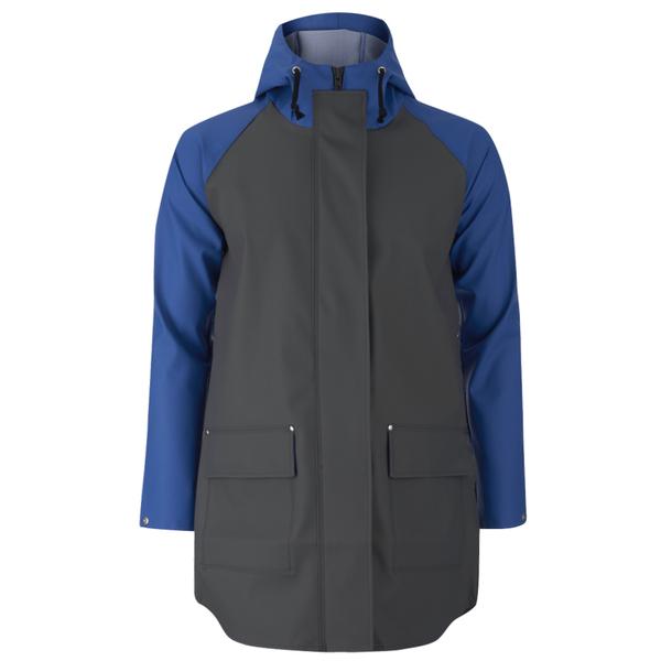 Elka Men's Thy Rain Jacket - Dark Grey/Royal Blue