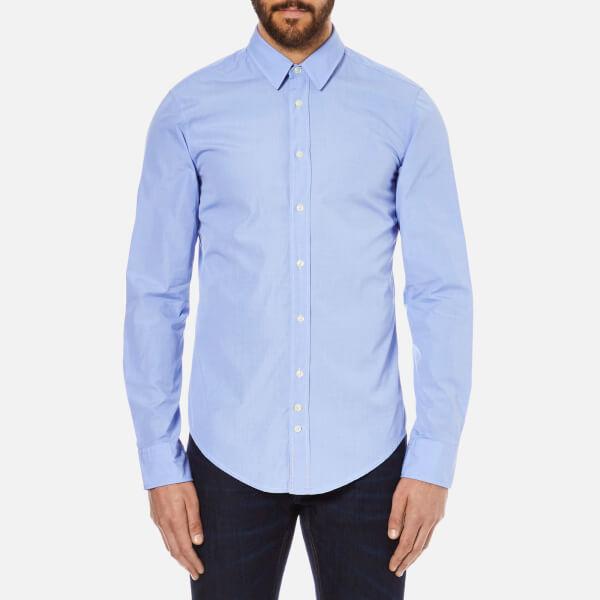 BOSS Orange Men's Cliffe Long Sleeve Shirt - Open Blue