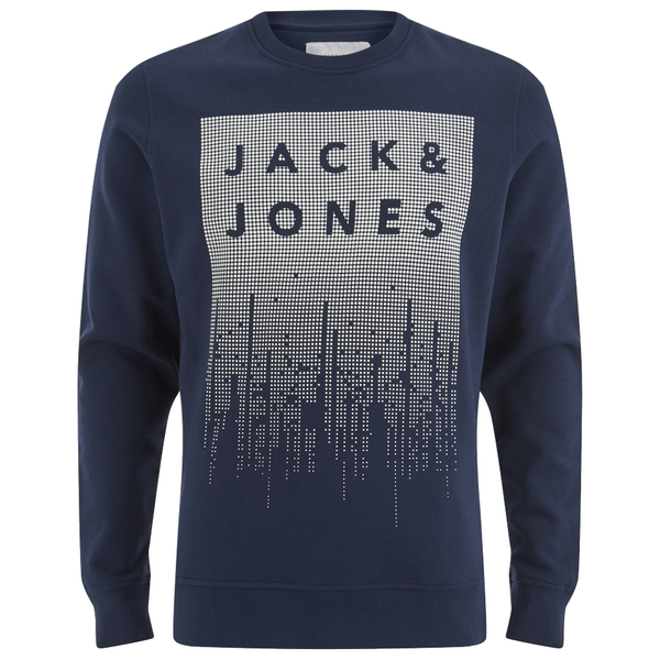 jack jones men 39 s core noise sweatshirt navy blazer mens clothing. Black Bedroom Furniture Sets. Home Design Ideas