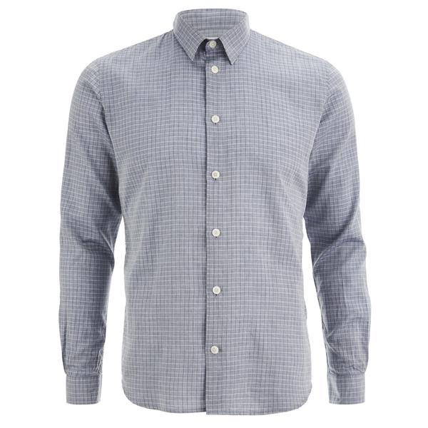 Folk Men's Grid Check Shirt - Navy