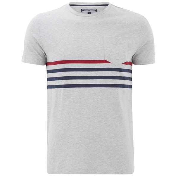 Tommy hilfiger men 39 s karl striped t shirt cloud heather for Tommy hilfiger fitzgerald striped shirt