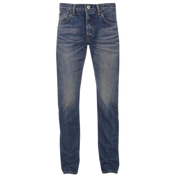 Edwin Men's Classic Regular Tapered Rainbow Selvage Jeans - Mid Dark Used