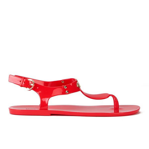 MICHAEL MICHAEL KORS Women's MK Plate Jelly Sandals - Coral Reef