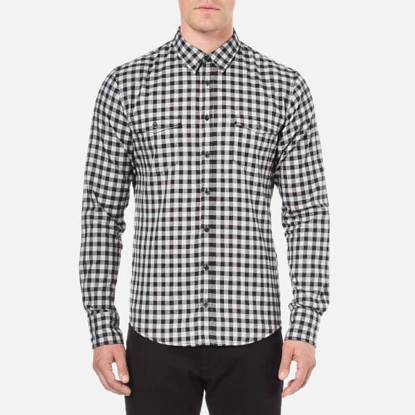 BOSS Orange Men's Edoslime Flannel Check Shirt - Black