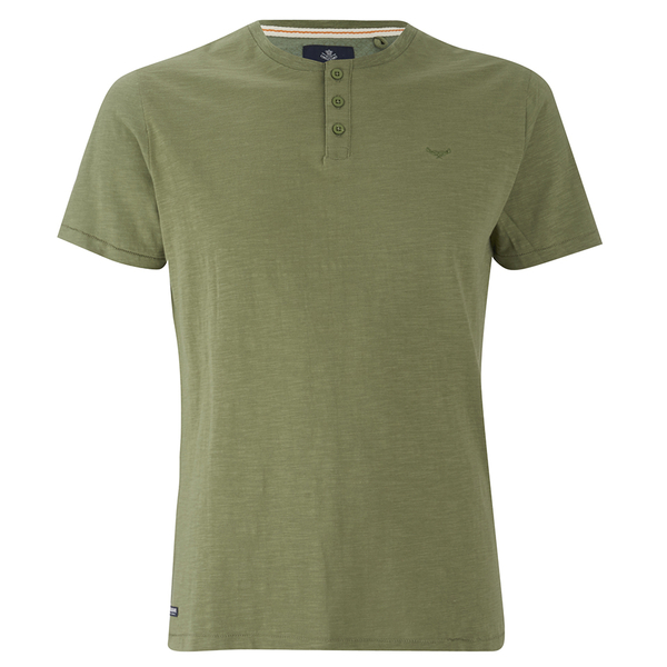 threadbare men 39 s oliver grandad t shirt khaki clothing. Black Bedroom Furniture Sets. Home Design Ideas