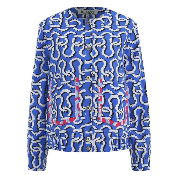 KENZO Women's Printed Bomber Jacket - Blue