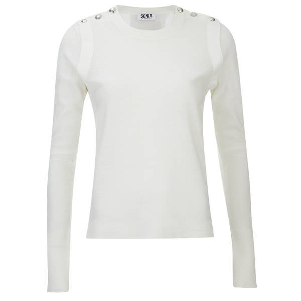 Sonia by Sonia Rykiel Women's Sailor Detail Long Sleeve Top - White