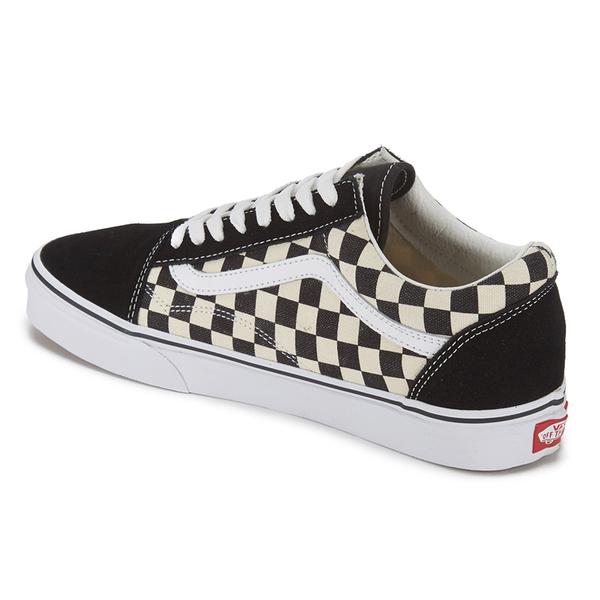 Vans Men S Old Skool Checkerboard Trainers Black