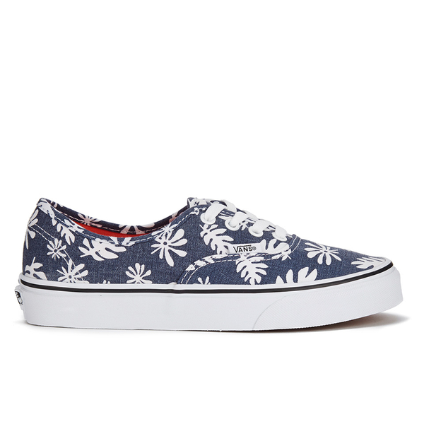 Vans Unisex Authentic Washed Kelp Trainers - Navy/White