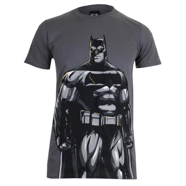 DC Comics Men's Batman v Superman Batman T-Shirt - Charcoal