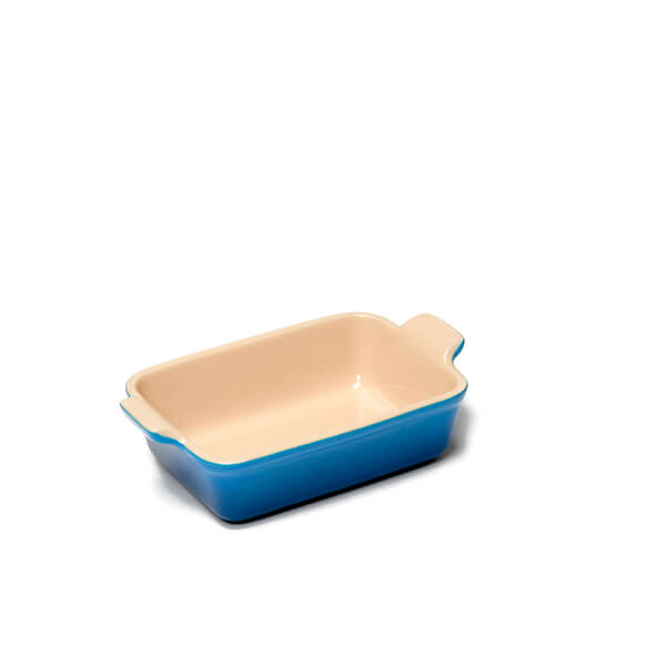 Le Creuset Stoneware Small Heritage Rectangular Roasting Dish - Marseille Blue