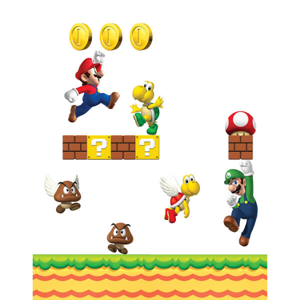 new super mario bros wall stickers nintendo uk store super mario bros removable wall sticker wayfair australia
