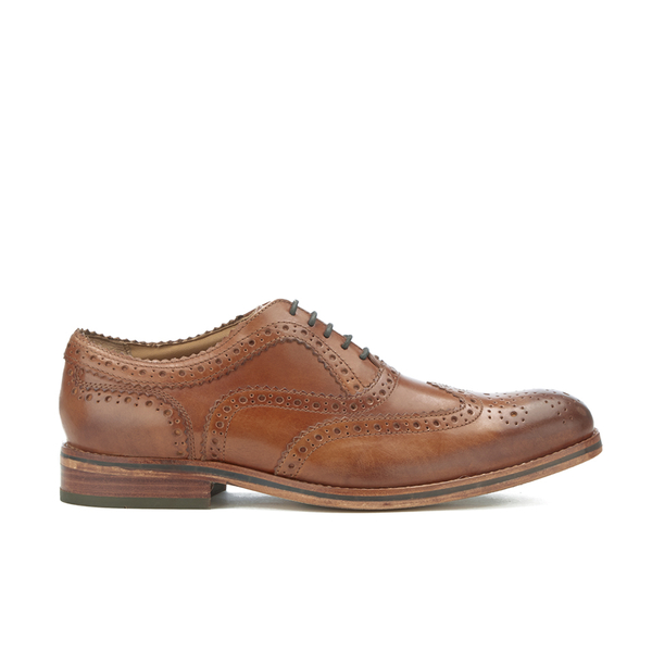 H Shoes by Hudson Men's Keating Leather Brogue Shoes - Tan