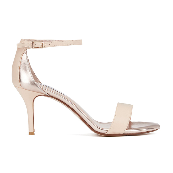 Dune Women's Mariee Leather Barely There Heeled Sandals - Rose Gold