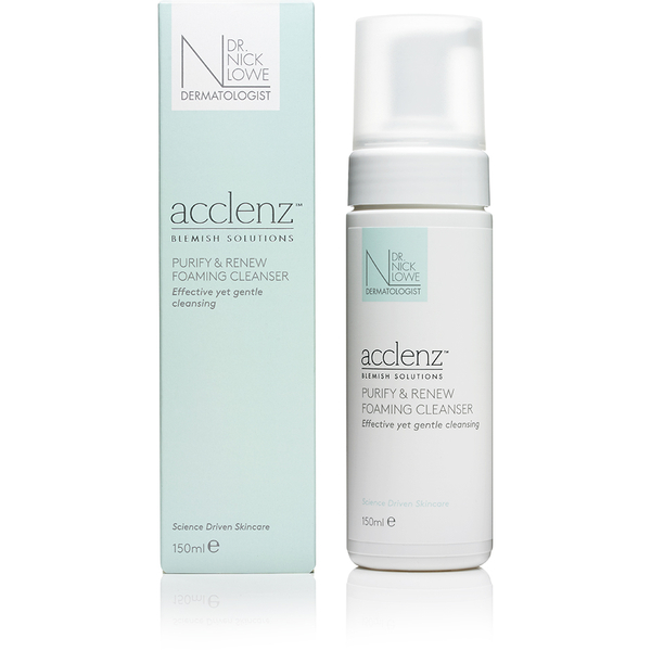 Espuma Limpiadora acclenz Purify and Renew de Dr. Nick Lowe 150 ml