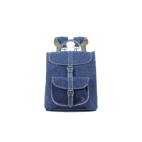 Grafea Women's Denim Small Backpack  - Denim