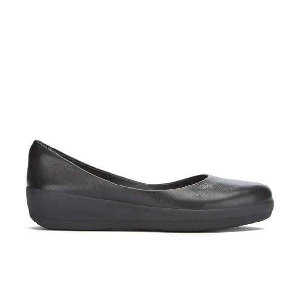 FitFlop Women's Superballerina Leather Pumps - All Black