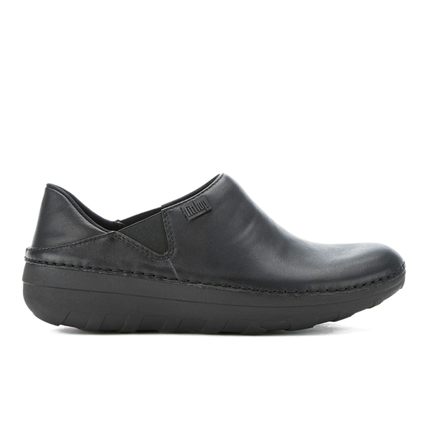 FitFlop Women's Superloafers Leather Clogs - All Black - UK 7