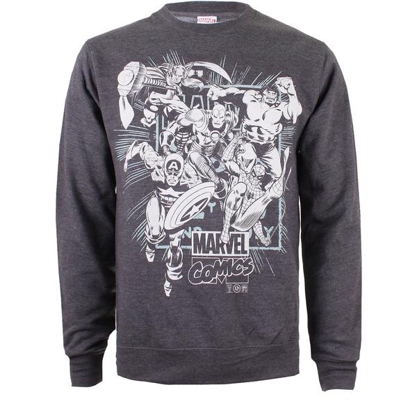 Marvel Men's Band of Heroes Sweatshirt - Dark Grey Marl