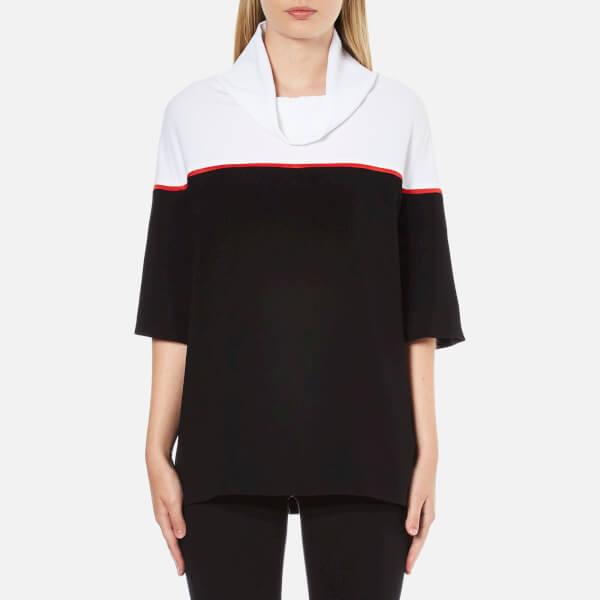 KENZO Women's Contrast Colour High Neck Top - Black