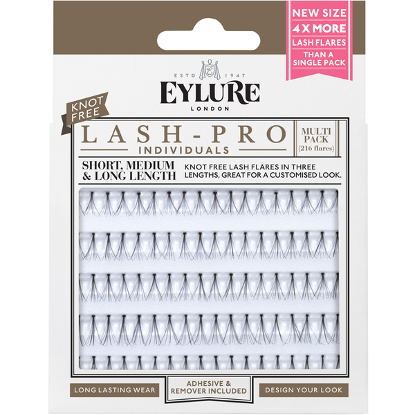 Eylure Lash-Pro Pestañas Individuales - Multipack Sin Nudos