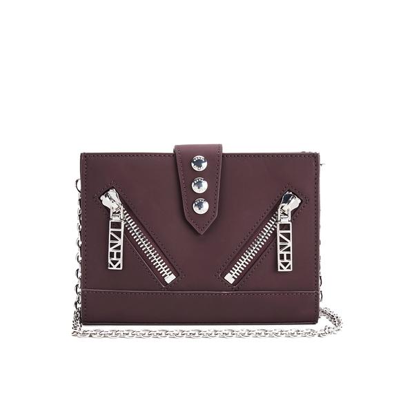 KENZO Women's Kalifornia Wallet on a Chain Crossbody Bag - Bordeaux