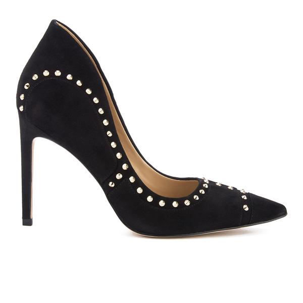 Sam Edelman Women's Hayden Suede Studded Court Shoes - Black