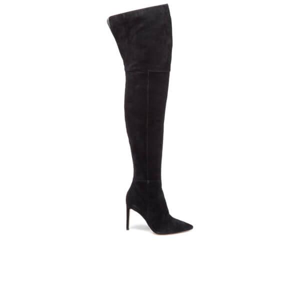 Sam Edelman Women's Bernadette Suede Thigh High Boots - Black