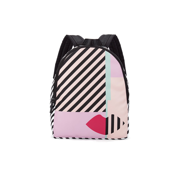 Lulu Guiness stripe Anna doll face will add a touch of pink to your bicycle commute