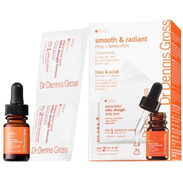 Dr Dennis Gross Smooth 和光彩照人组合产品拥有Brightening解决方案