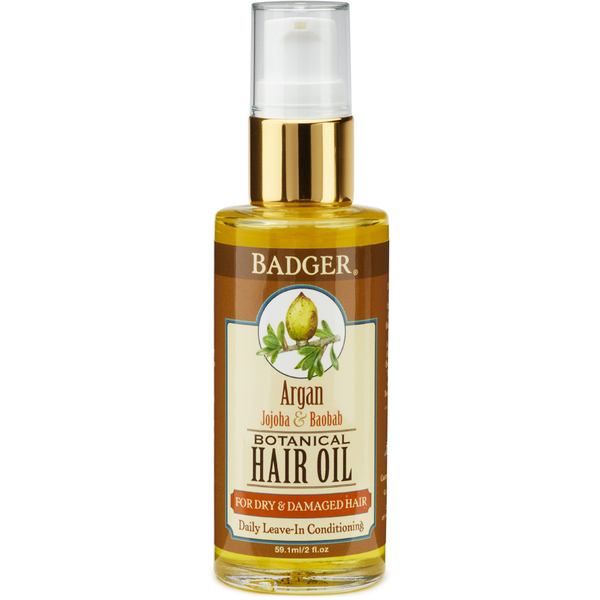 Huile capillaire à l'argan Badger (59,1 ml)