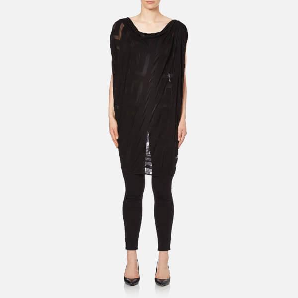 Vivienne Westwood Anglomania Women's Greek Key Devore Fortune Tunic - Black