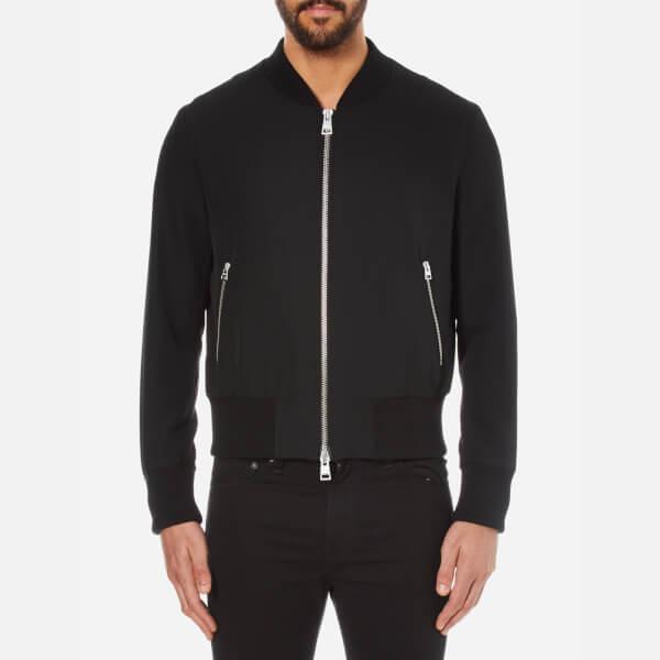 AMI Men's Zipped Teddy Jacket - Black